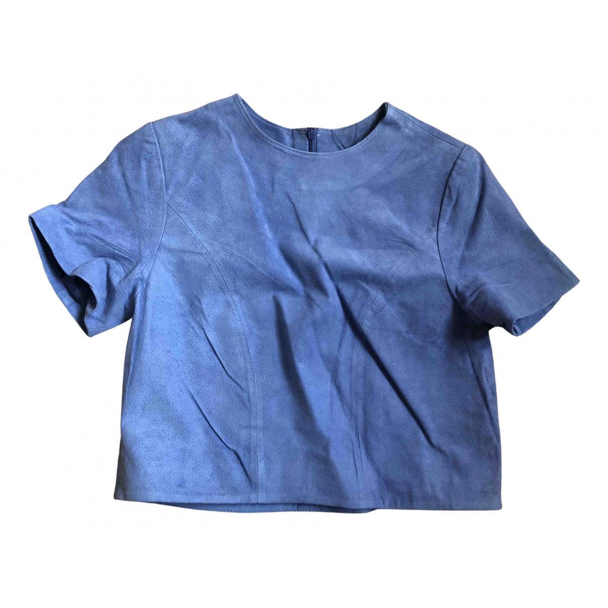 Asos - Top   pour femme en cuir - bleu
