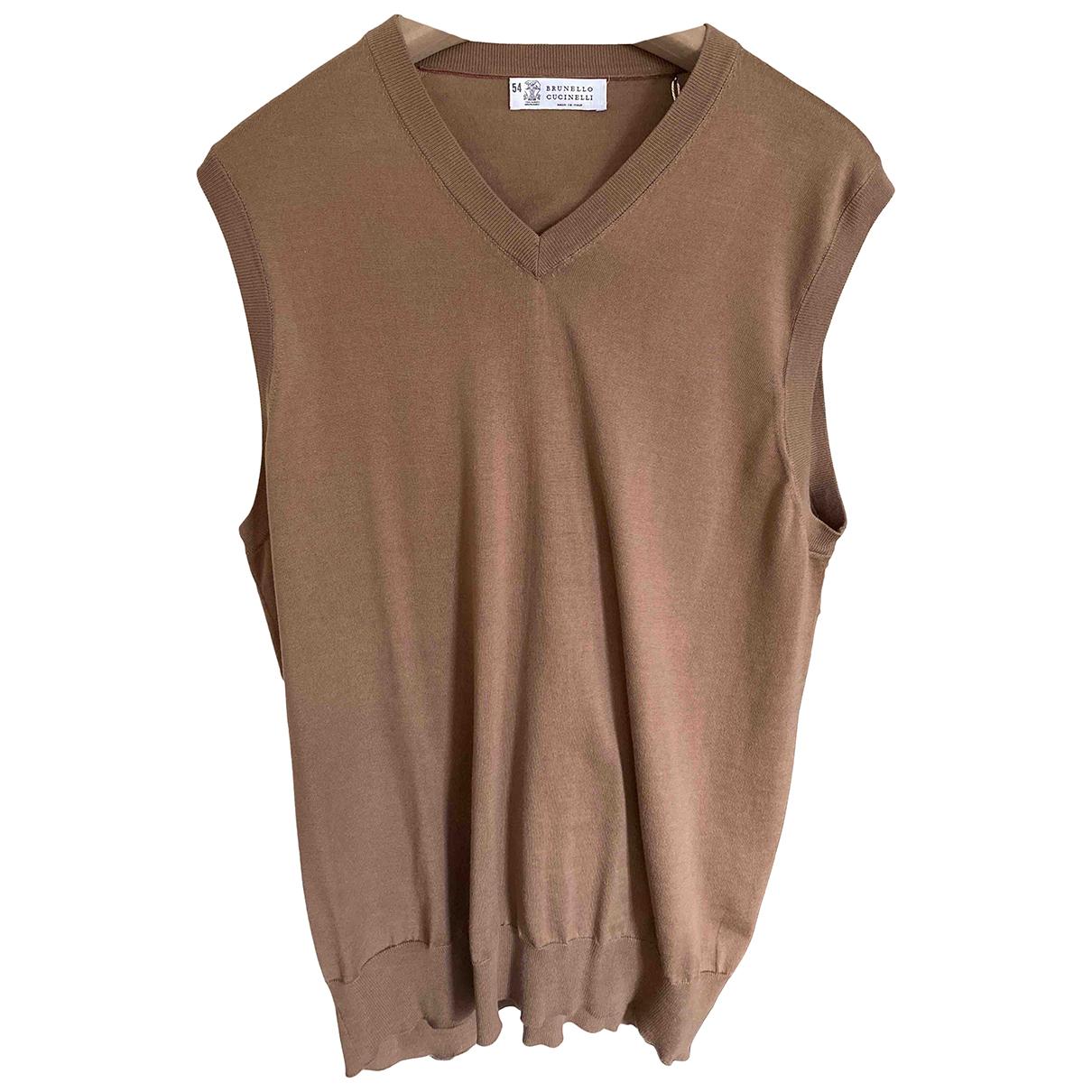 Brunello Cucinelli \N Pullover.Westen.Sweatshirts  in  Braun Baumwolle