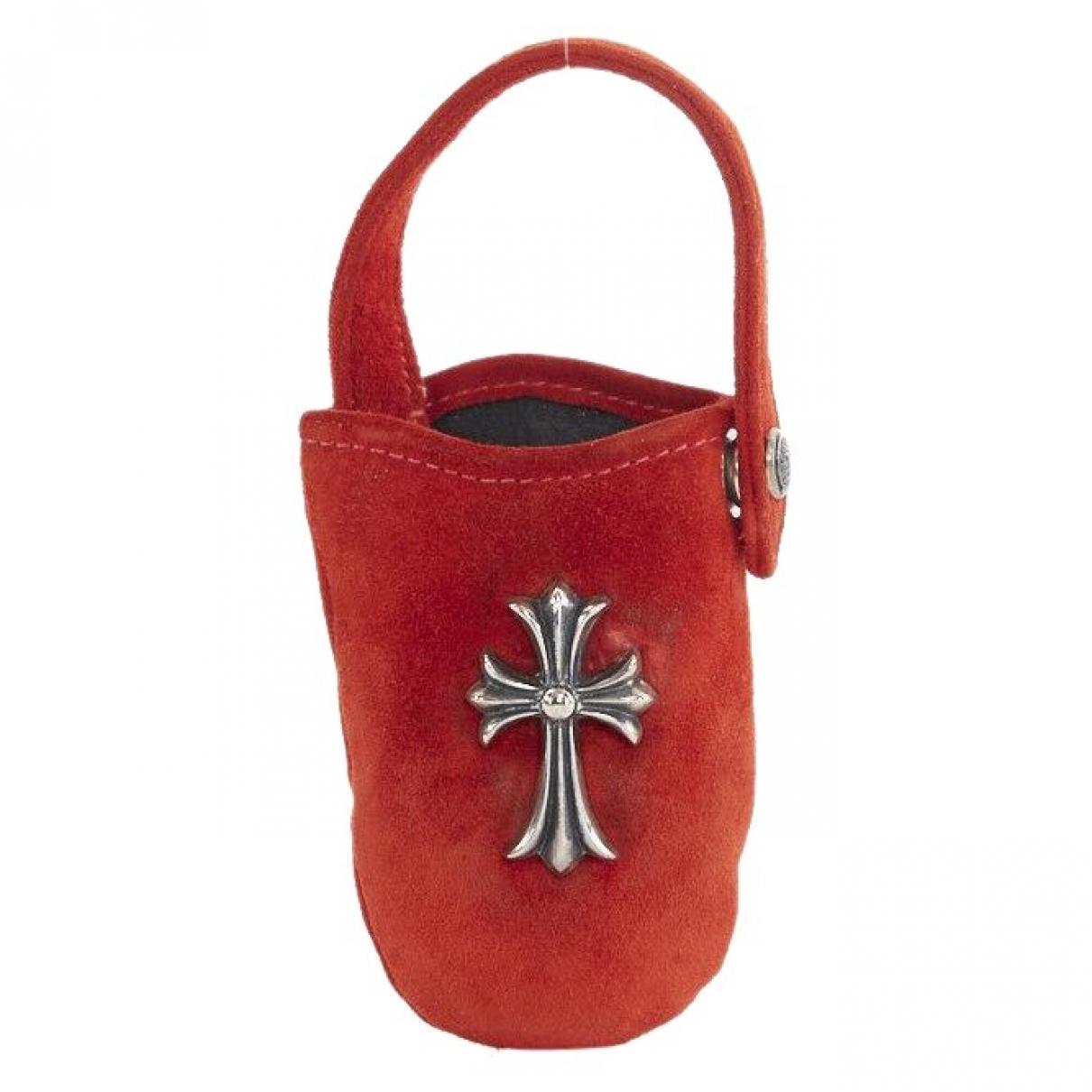 Chrome Hearts \N Handtasche in  Silber Veloursleder