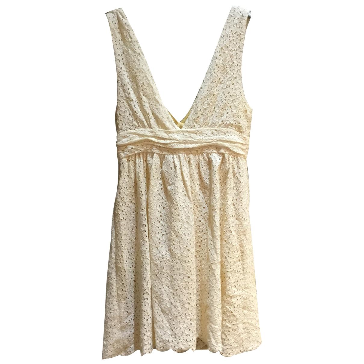 Zadig & Voltaire \N Kleid in  Gelb Baumwolle