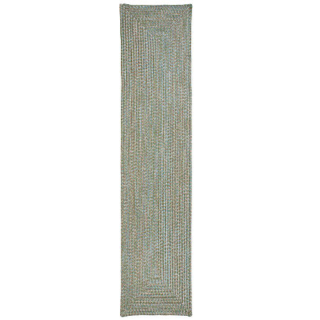 Colonial Mills Blaise Tweed Reversible Indoor Outdoor Braided Runner Rugs, One Size , Green