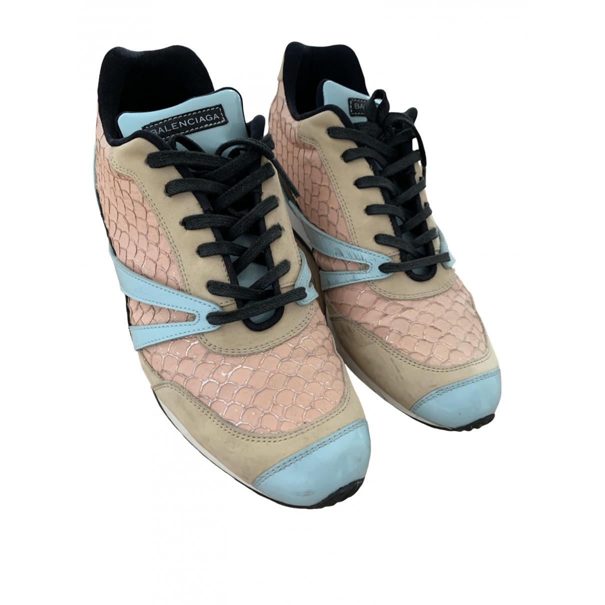 Balenciaga \N Sneakers in  Beige Leder
