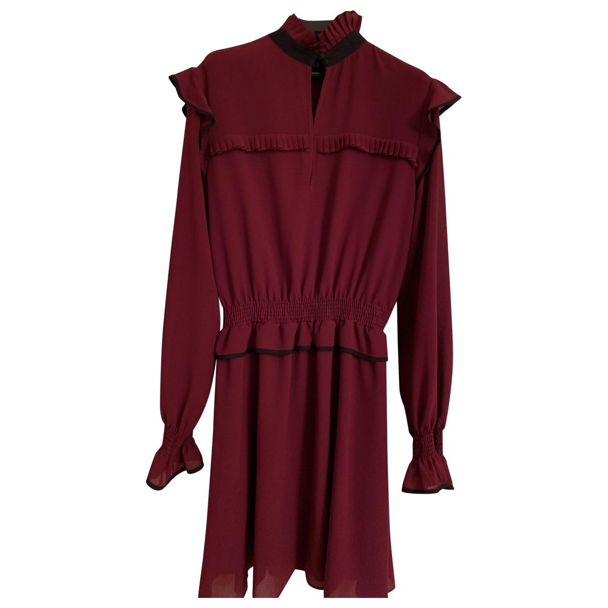 Pinko \N Kleid in  Bordeauxrot Polyester