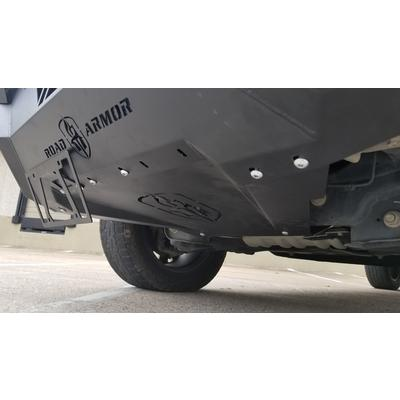 Road Armor Spartan Front Bumper Bolt-On Accessory Skid Plate Guard (Texture Black) - 6151XFSPB