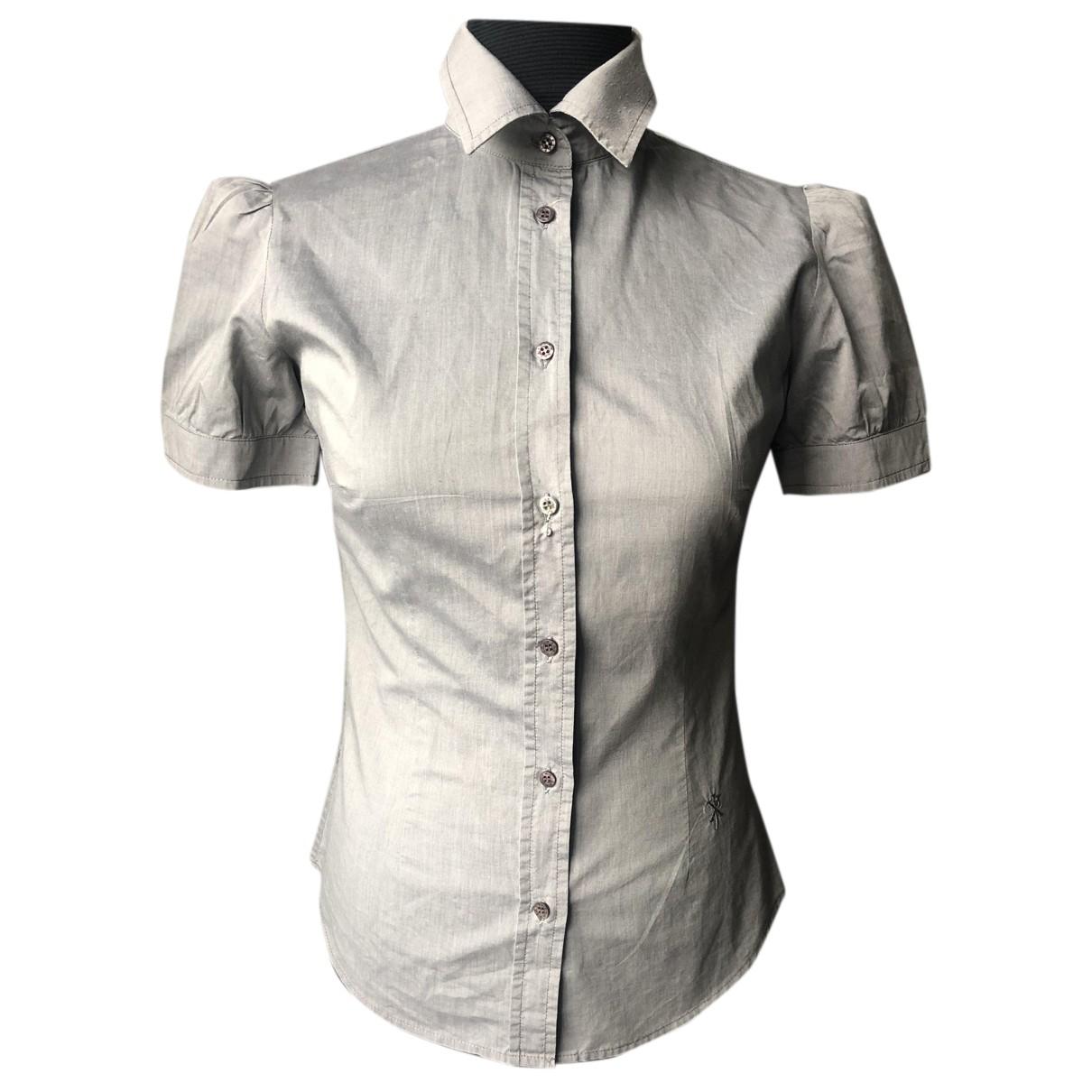 John Richmond - Top   pour femme en coton - gris