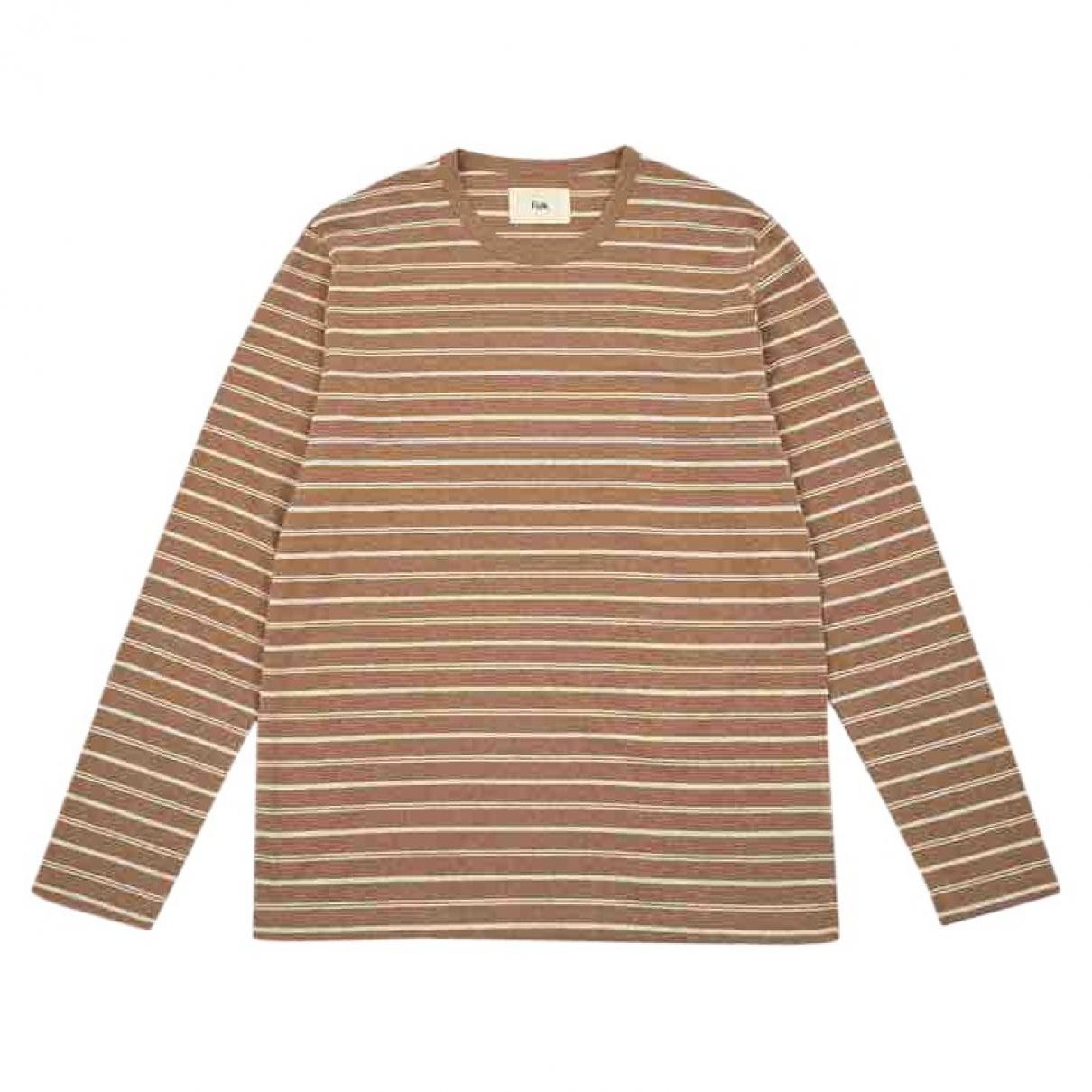 Folk \N Beige Cotton T-shirts for Men 3 0 - 6