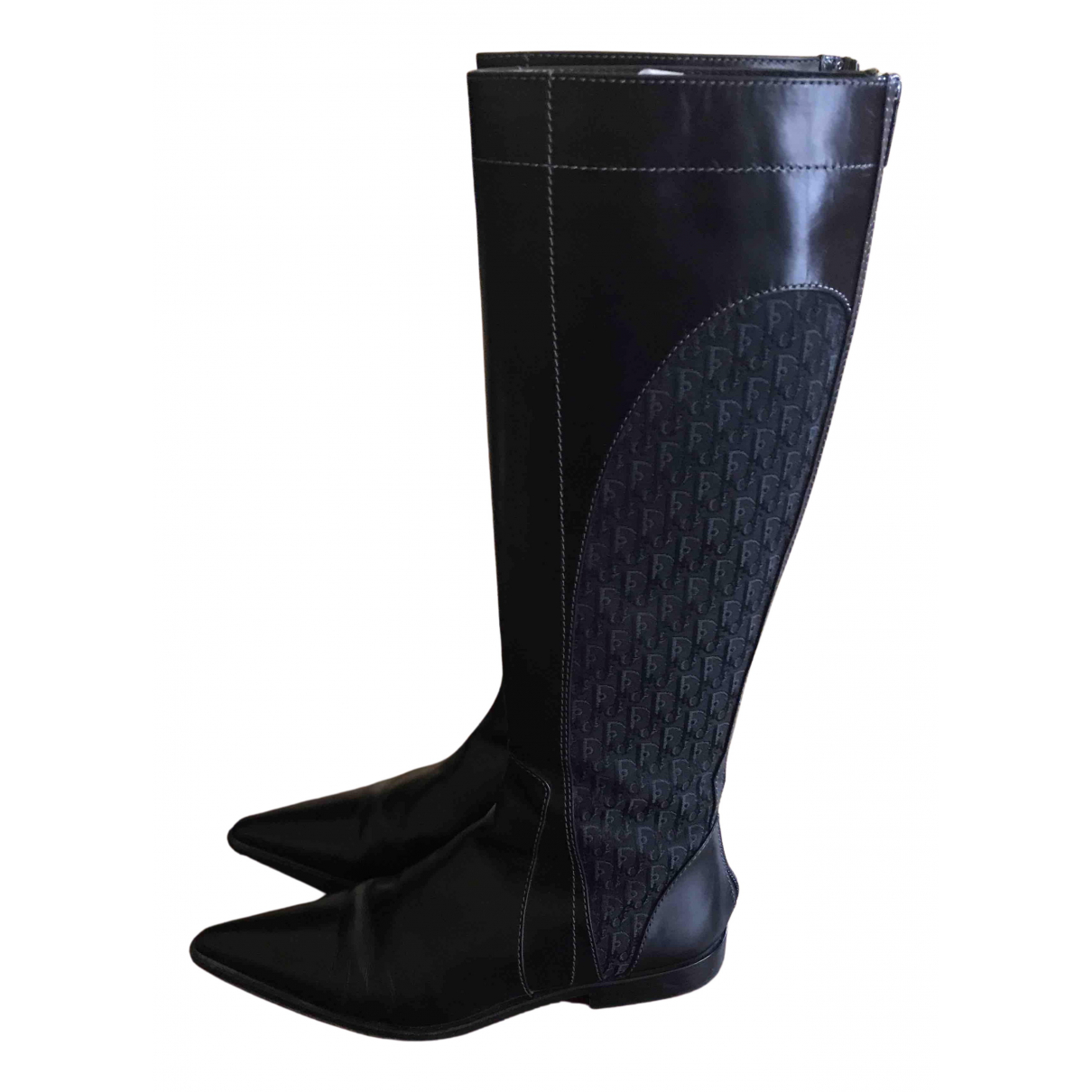 Dior N Black Leather Boots for Women 35 IT