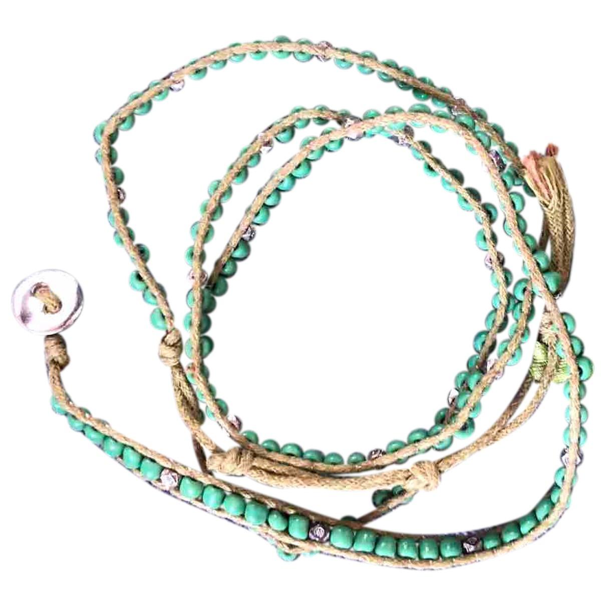 Non Signé / Unsigned \N Green Metal bracelet for Women \N