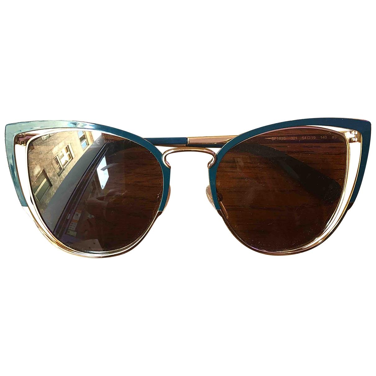 Salvatore Ferragamo \N Gold Metal Sunglasses for Women \N
