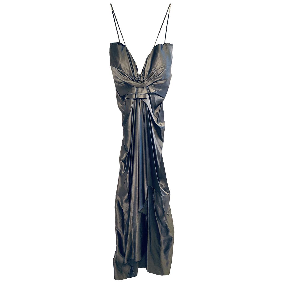 Moschino \N Kleid in  Metallic Seide