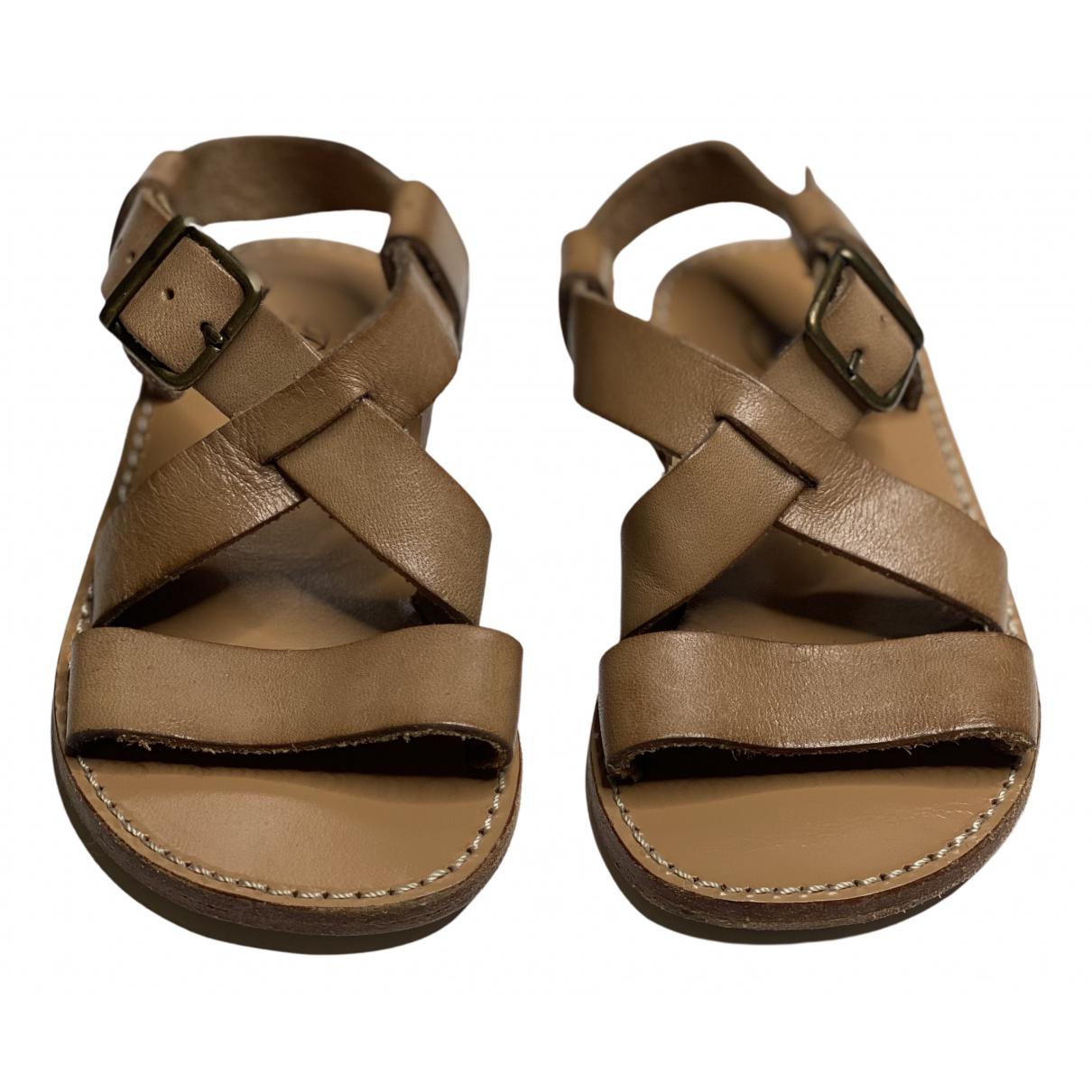 Bonpoint - Sandales   pour enfant en cuir - beige