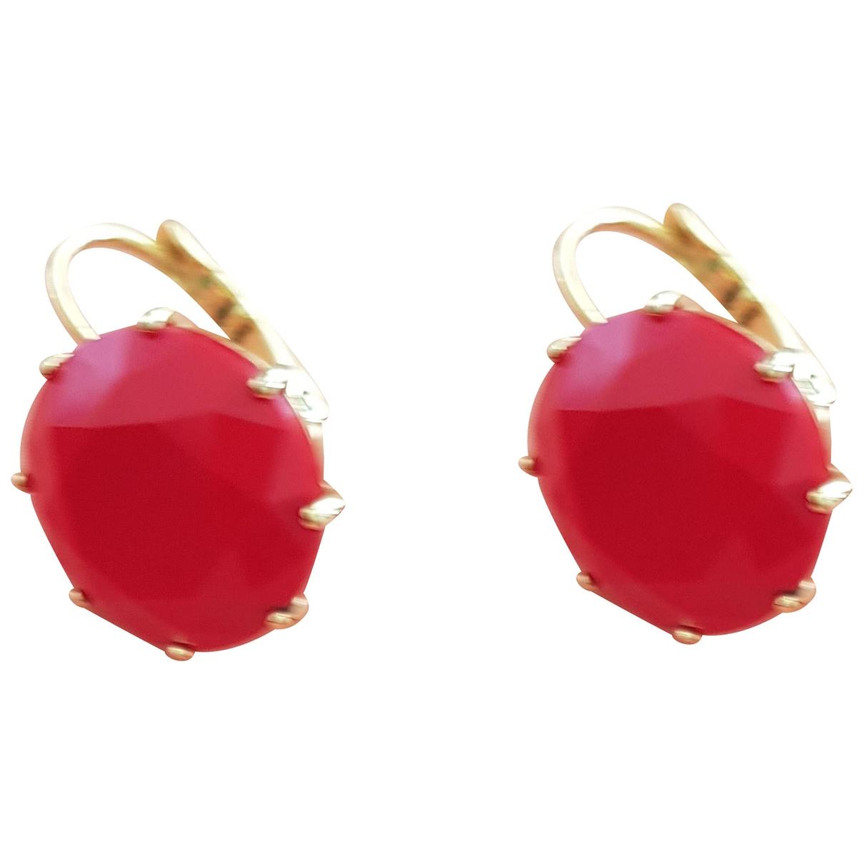 Les Nereides - Boucles doreilles   pour femme en verre - rouge
