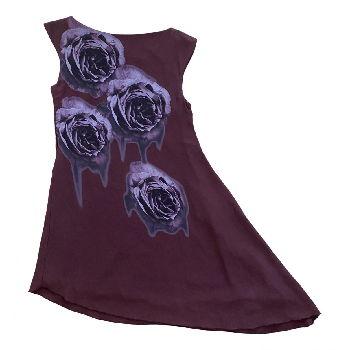 Mangano \N Kleid in  Lila Baumwolle