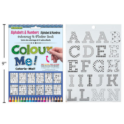 Alphabets & Numbers Coloring Sticker Book, 6 x 9