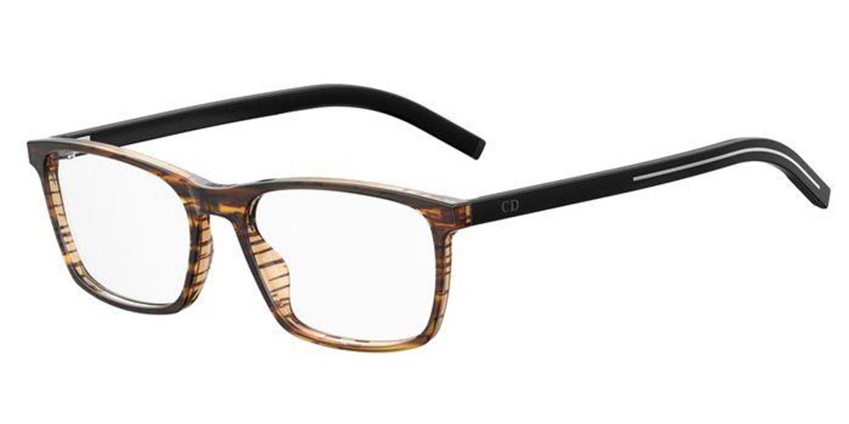 Dior BLACK TIE 253 Z15 Men's Glasses Brown Size 53 - Free Lenses - HSA/FSA Insurance - Blue Light Block Available