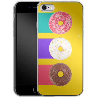 Apple iPhone 6s Silikon Handyhuelle - Donuts von Danny Ivan