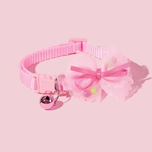1pc Cat Collar With Bow & Bell