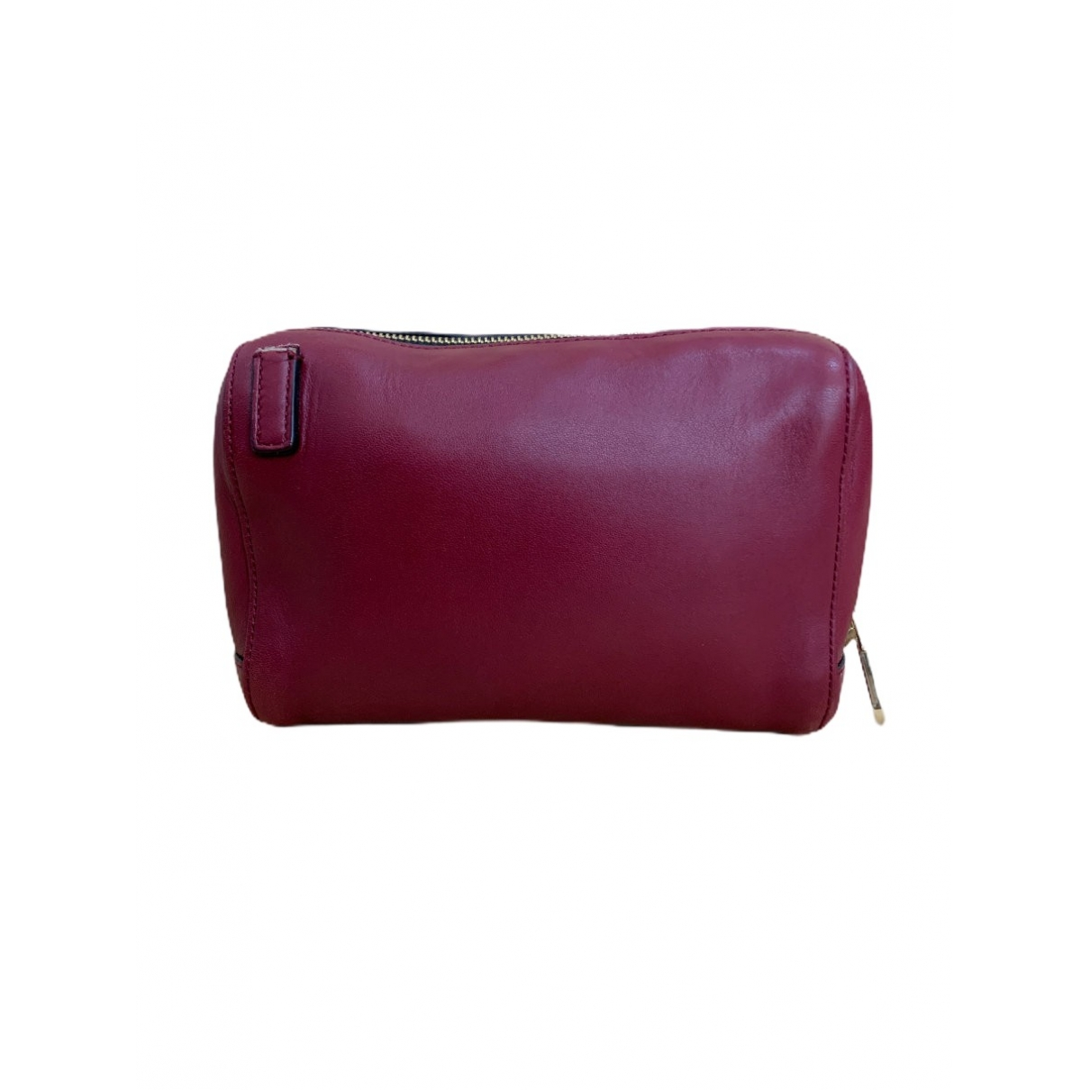 Chloe \N Clutch in  Bordeauxrot Leder