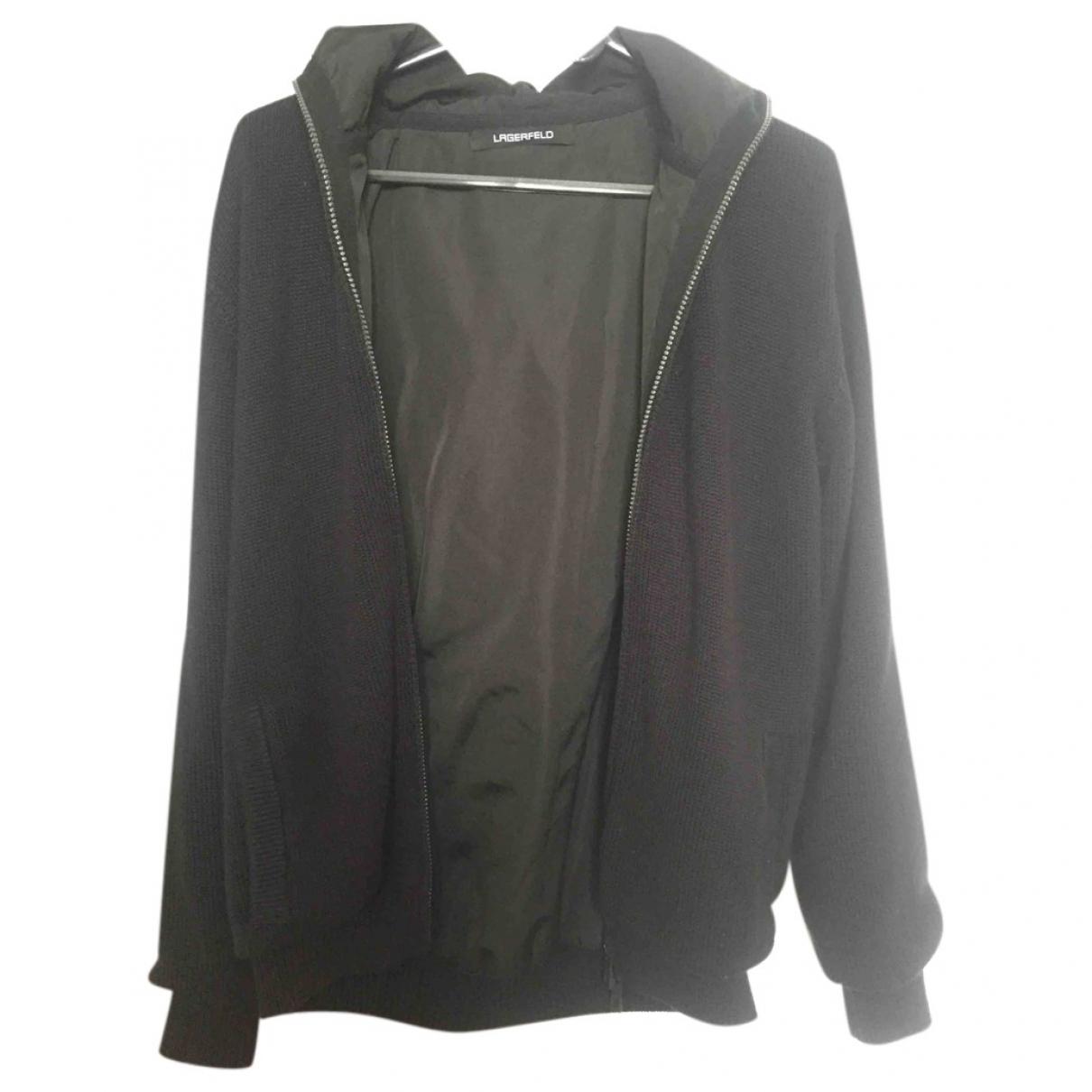Karl Lagerfeld \N Black Wool jacket  for Men L International
