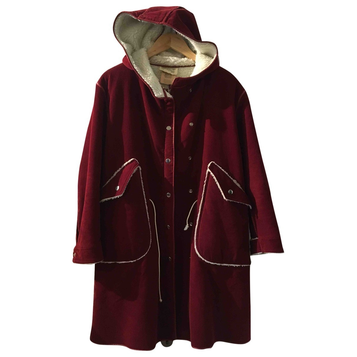 Courrèges \N Burgundy Cotton coat for Women 36 FR