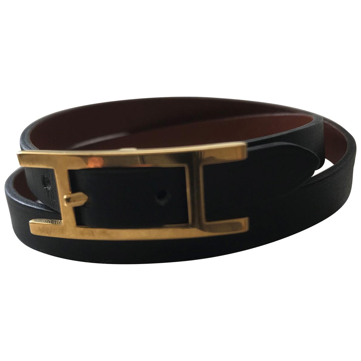 Hermès Hapi Black Leather bracelet for Women \N