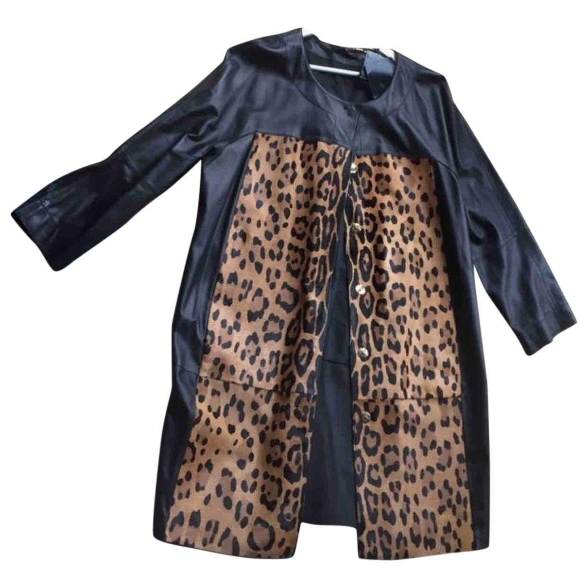 Escada \N Black Leather jacket for Women 46 FR