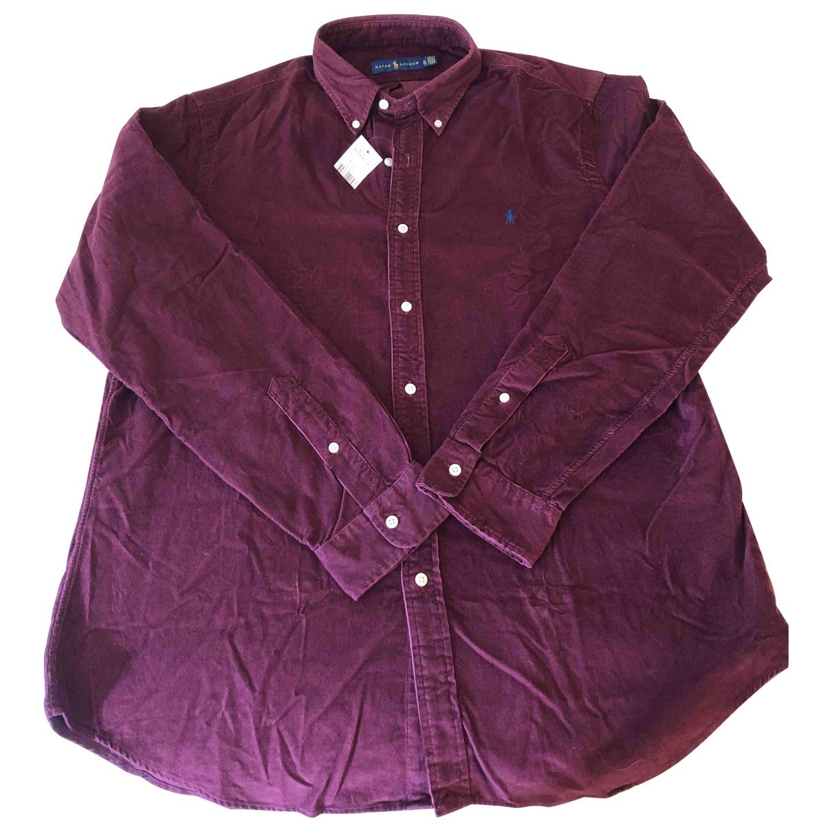 Ralph Lauren - Chemises   pour homme en velours - bordeaux