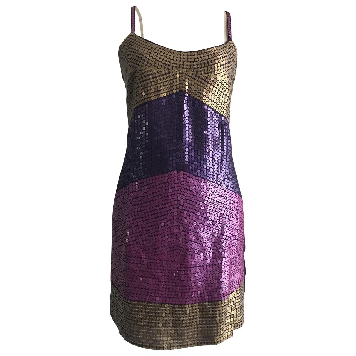 Zara - Robe   pour femme en a paillettes - multicolore