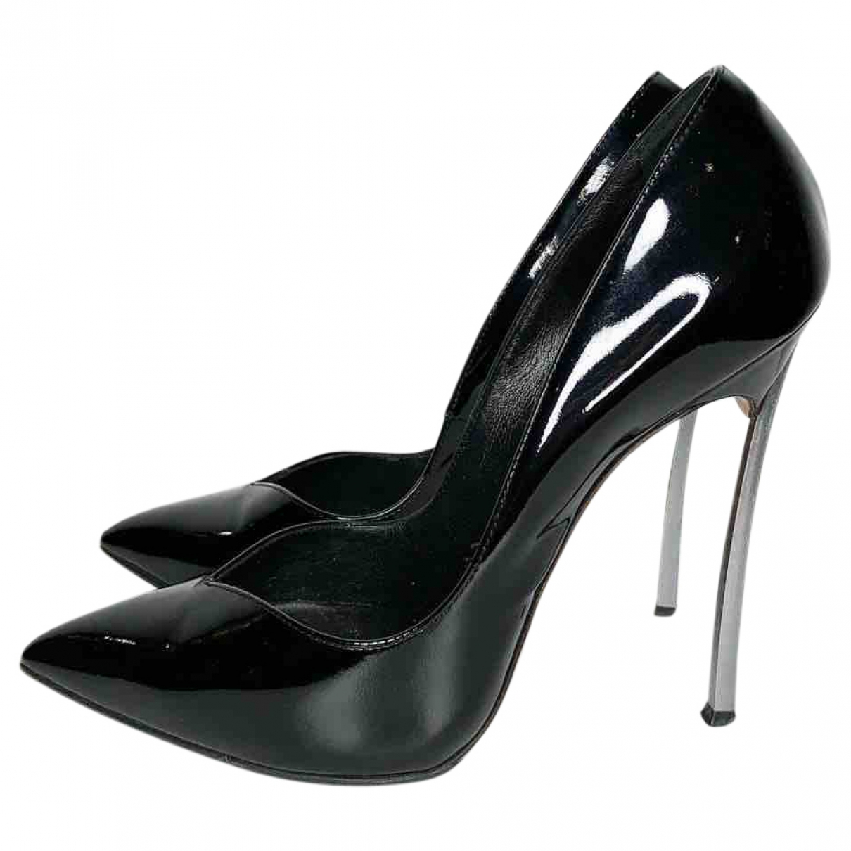 Casadei \N Black Patent leather Heels for Women 37.5 EU