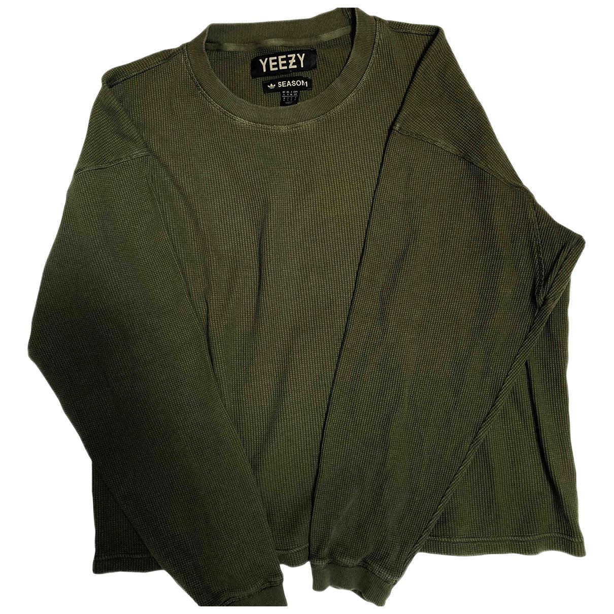 Yeezy X Adidas - Tee shirts   pour homme en coton - vert