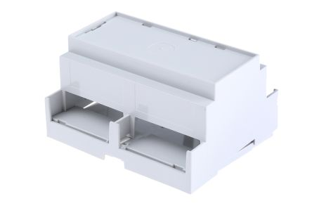 CAMDENBOSS Solid Top Enclosure Type CNMB Series , 106 x 58 x 90mm, Polycarbonate DIN Rail Enclosure, Grey