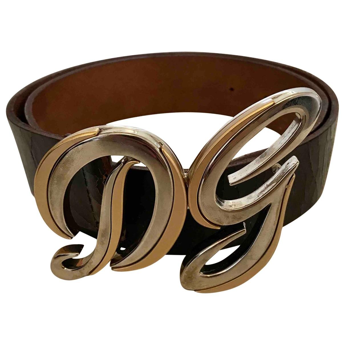 Dolce & Gabbana \N Guertel in  Braun Leder
