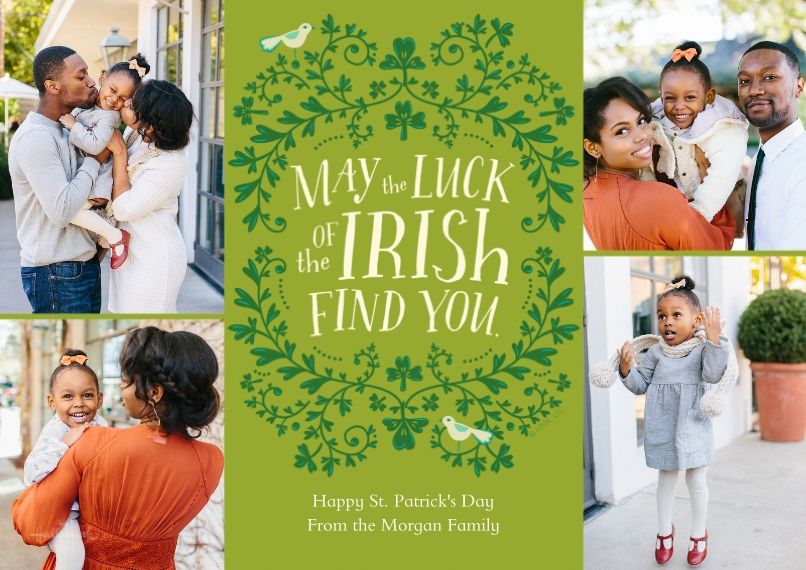St. Patrick's Day Cards 5x7 Cards, Premium Cardstock 120lb, Card & Stationery -Luck of the Irish
