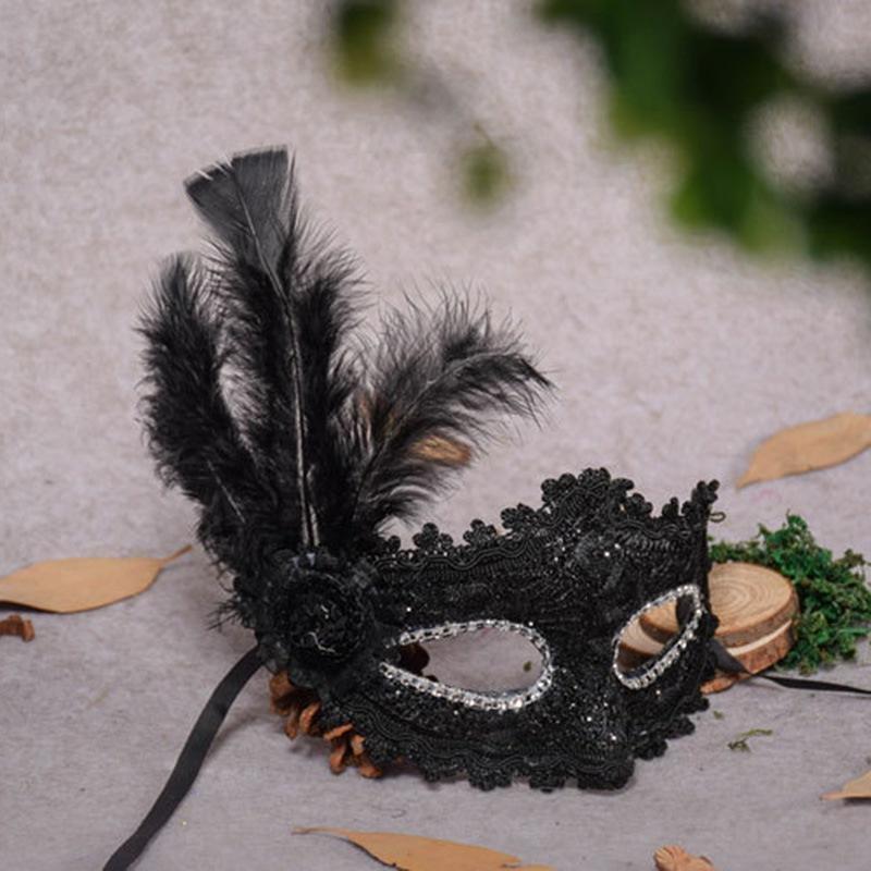 Ericdress Halloween Feather Mask