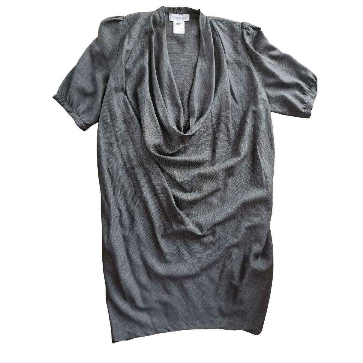 Paul & Joe \N Grey Wool dress for Women 40 FR