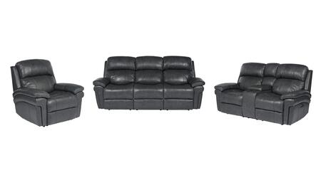 Sunset Trading Luxe Leather Collection SU-9102-94-1394-3PC 3-Piece Living Room Set with Power Reclining Sofa  Power Reclining Loveseat and Power