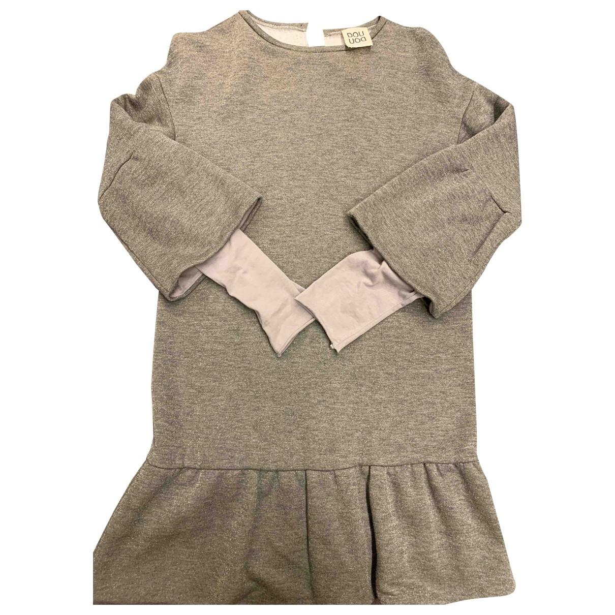 Douuod - Robe    pour enfant en coton - gris