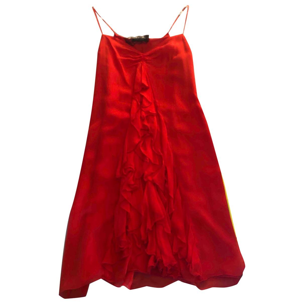 Patrizia Pepe - Robe   pour femme en soie - rouge
