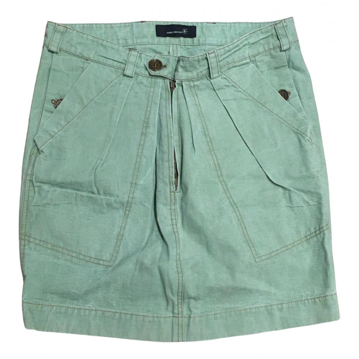 Isabel Marant Etoile \N Rocke in  Gruen Denim - Jeans