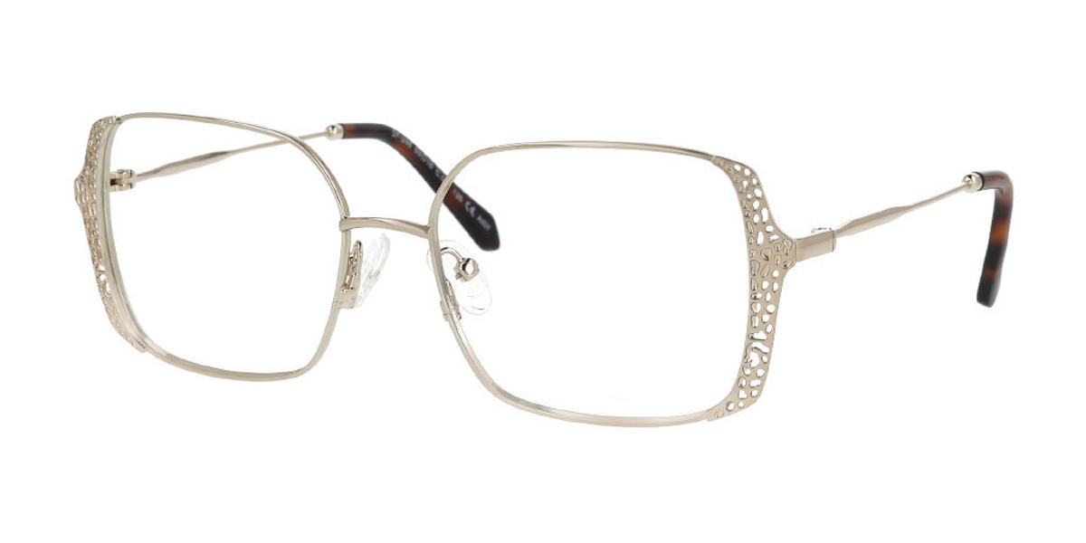 Square Full Rim Metal Women's Glasses Discount Online Gold Size 53, Free Lenses, HSA/FSA Insurance, Blue Light Block Available - SmartBuy Collection