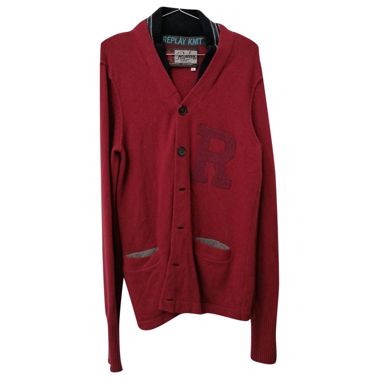 Replay \N Pullover.Westen.Sweatshirts  in  Rot Wolle