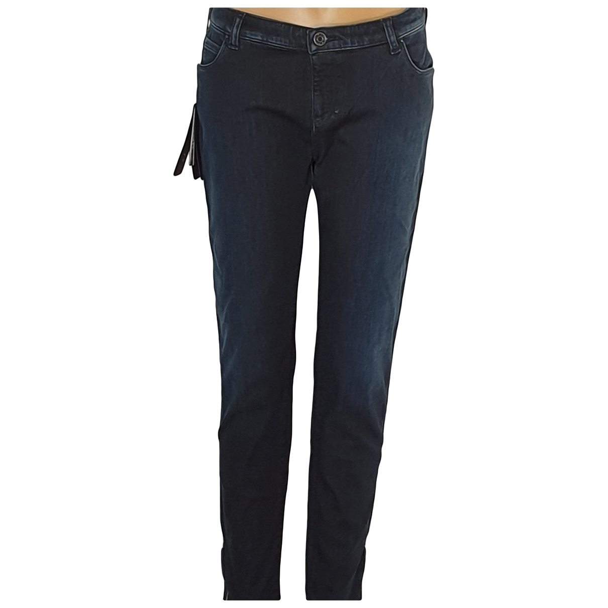 Armani Jeans \N Blue Cotton - elasthane Jeans for Women 38 FR