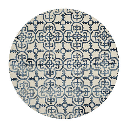 Safavieh Dip Dye Collection Danny Floral Round Area Rug, One Size , Multiple Colors