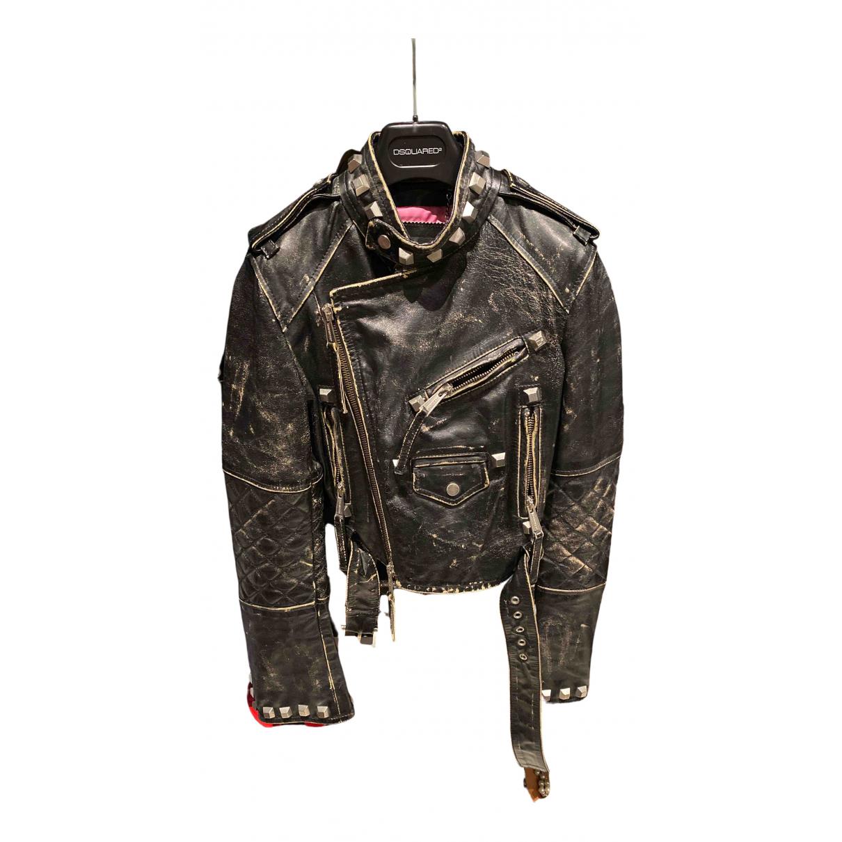 Dsquared2 \N Jacke in  Schwarz Leder