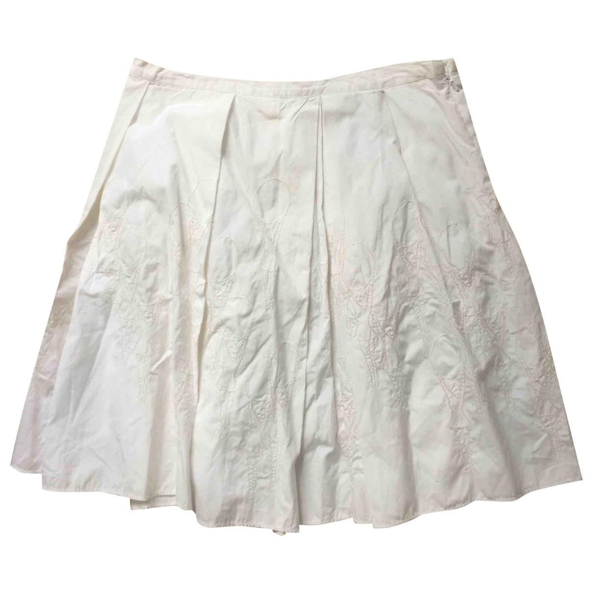 Club Monaco - Jupe   pour femme en coton - blanc