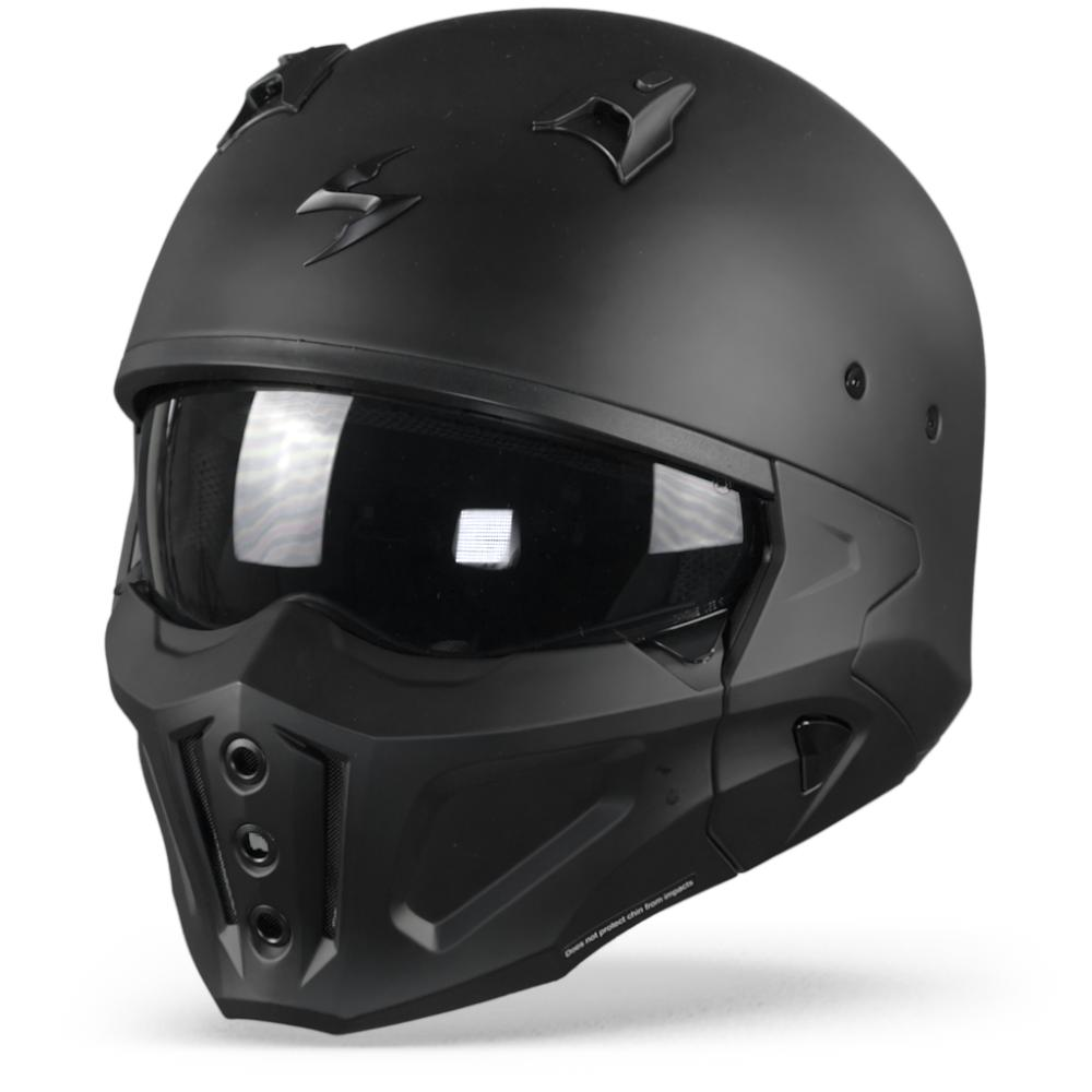 Scorpion Covert-X Solid Casco Jet Negro Mate S