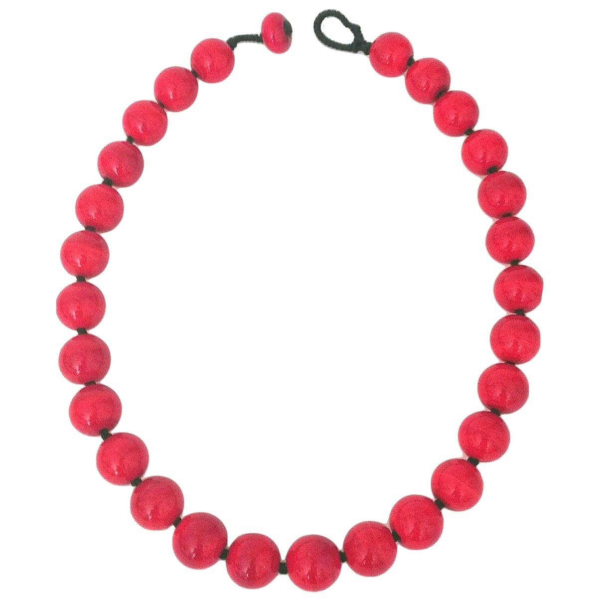 Non Signe / Unsigned \N Kette in  Rot Glas