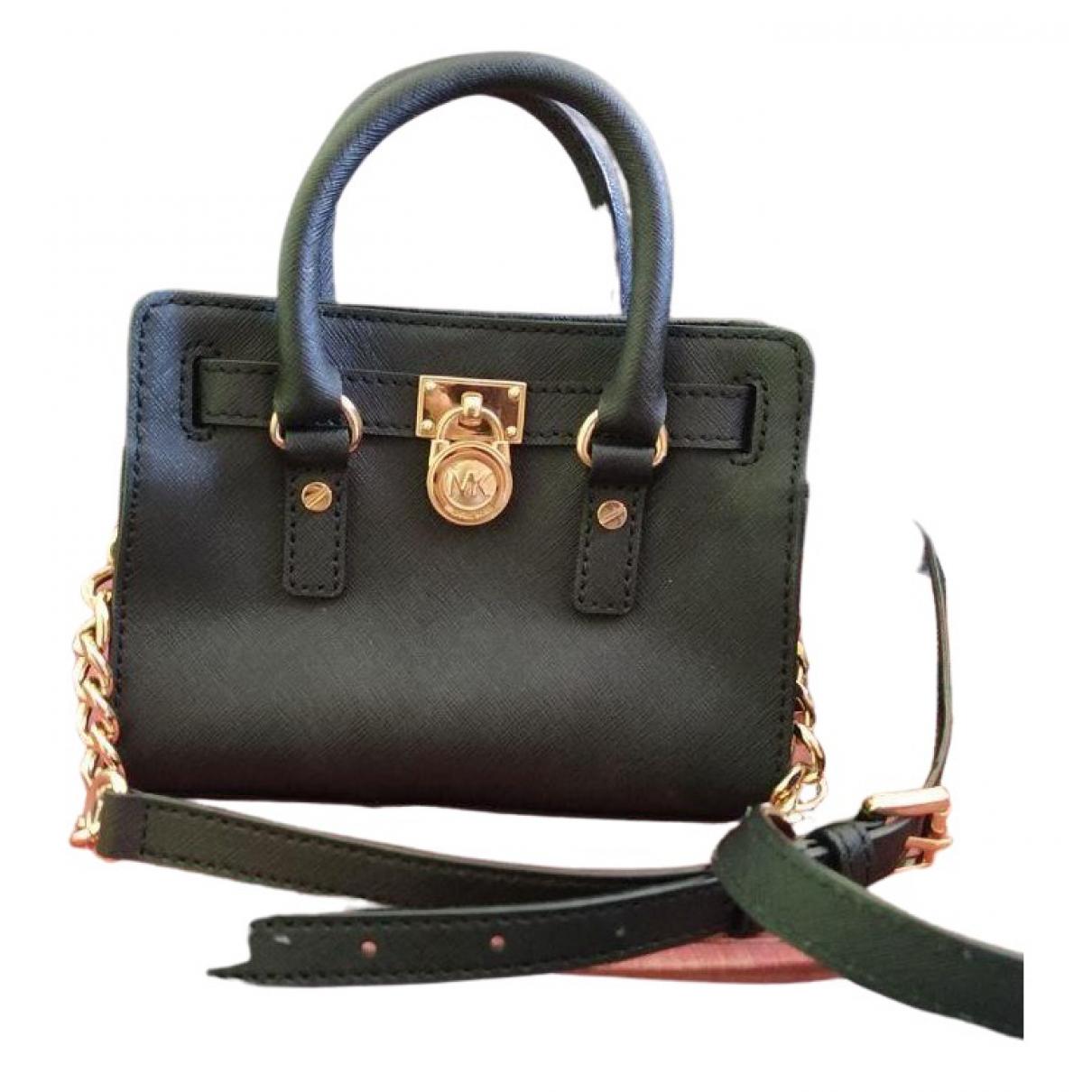 Michael Kors Hamilton Black Leather handbag for Women \N