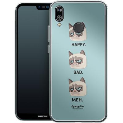Huawei P20 Lite Silikon Handyhuelle - Facial Expressions von Grumpy Cat