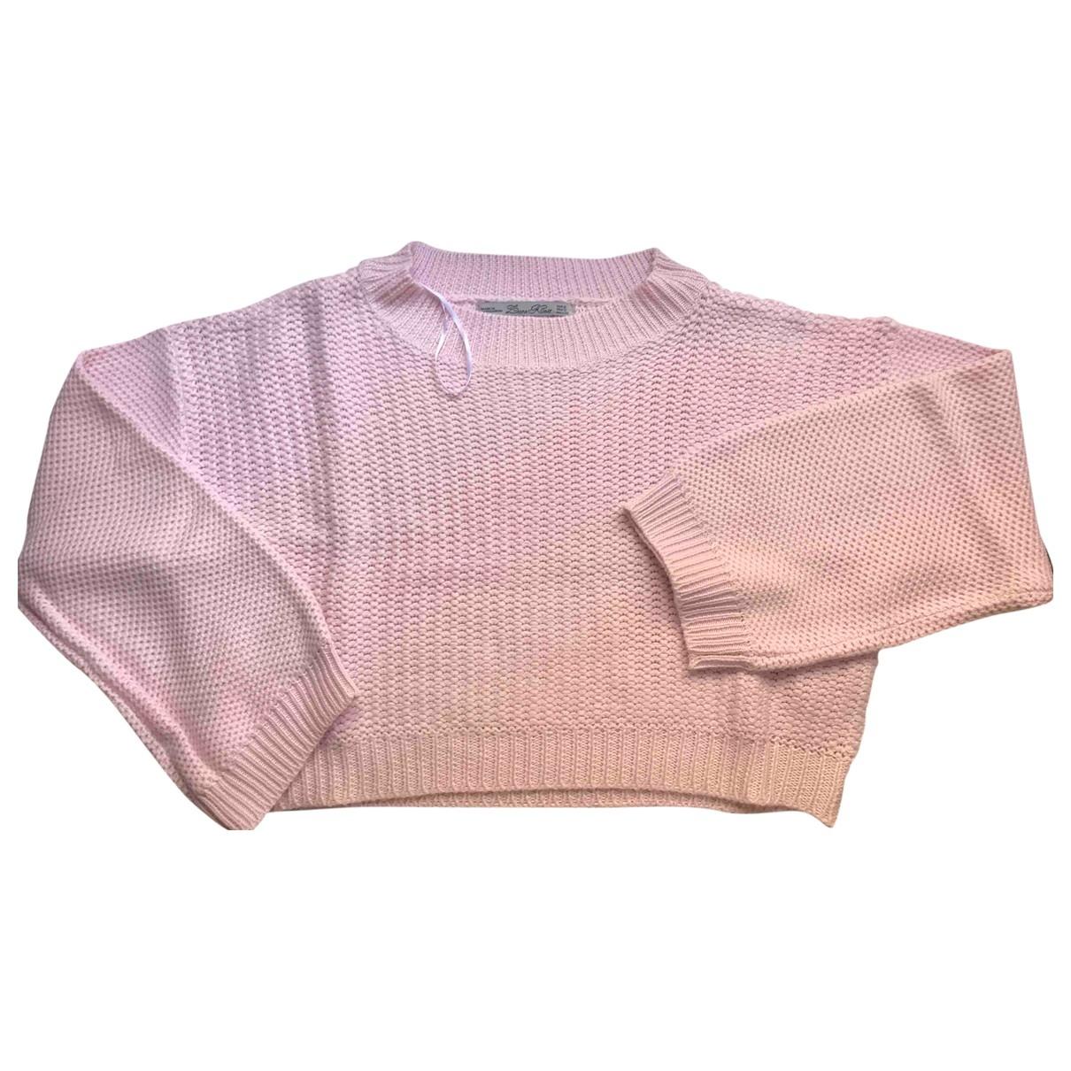 Zara - Pull   pour femme en coton - rose